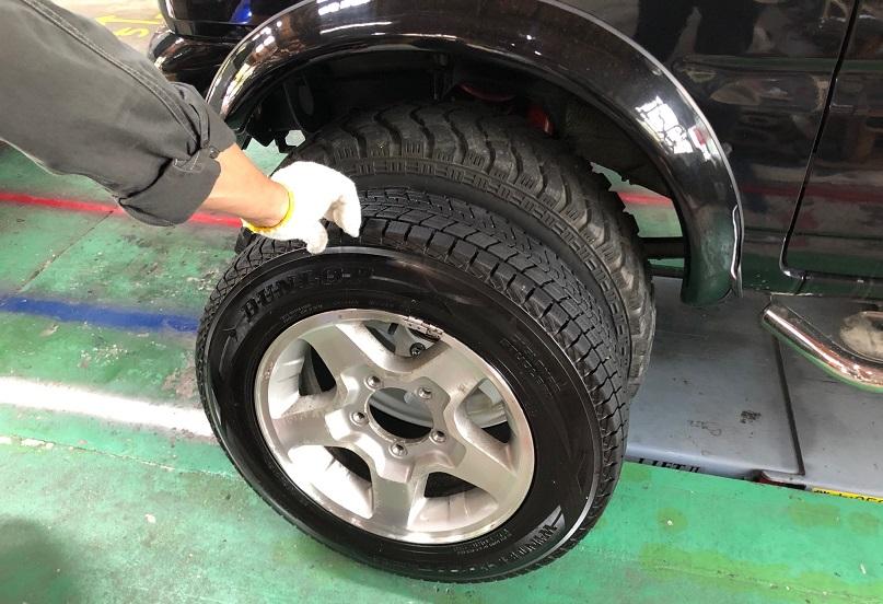 タイヤはメーカーサイズにより